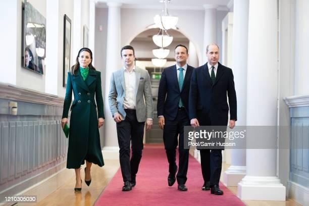 Matthew Barrett Taoiseach of Ireland Leo Varadkar, Prince William, Duke of Cambridge and Catherine, Duchess of Cambridge attend an Official Meeting...