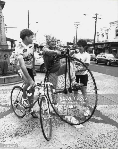 Matthew Bazzano member of the 1980 commonwealth games road cycling teamDawn Frazer state member of parliament riding in the community cycle...