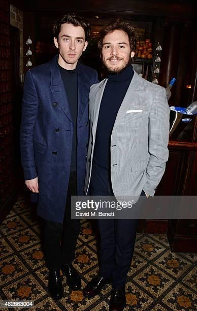 Matthew Beard and Sam Claflin attend Harvey Weinstein's BAFTA Dinner in partnership with Burberry GREY GOOSE at Little House Mayfair on February 6...