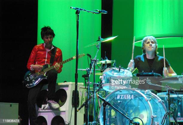 Matthew Bellamy and Dominic Howard of Muse during 2nd Annual Download Festival 2006 San Francisco in Mountain View California United States