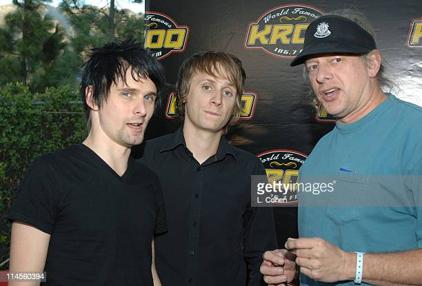 Matthew Bellamy and Dominic Howard of Muse with Jed the Fish of KROQ