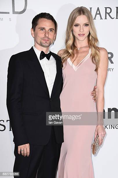 Matthew Bellamy and Elle Evans arrive at amfAR's 23rd Cinema Against AIDS Gala at Hotel du CapEdenRoc on May 19 2016 in Cap d'Antibes France