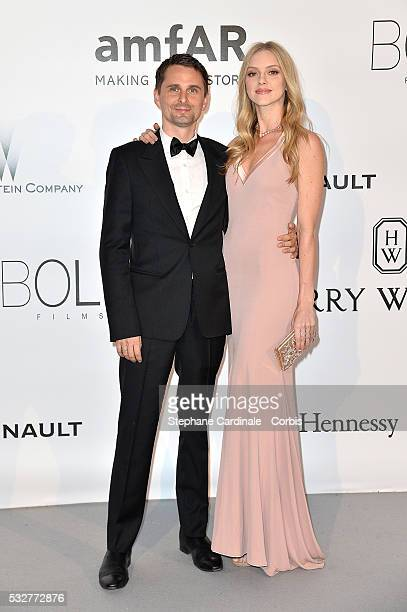 Matthew Bellamy and Elle Evans attend the amfAR's 23rd Cinema Against AIDS Gala at the annual 69th Cannes Film Festival at Hotel du CapEdenRoc on May...