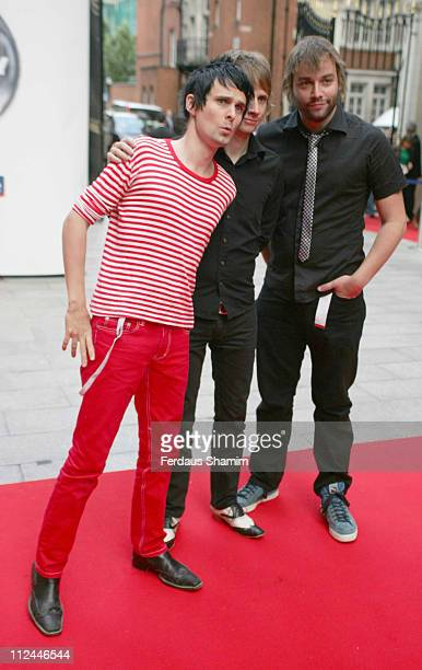 Matthew Bellamy Dominic Howard and Chris Wolstenholme of Muse Mercury Prize nominees for their album 'Black Holes and Revelations'