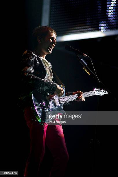 Matthew Bellamy of British rock band Muse performs on stage at Ahoy on November 14 2009 in Rotterdam Netherlands