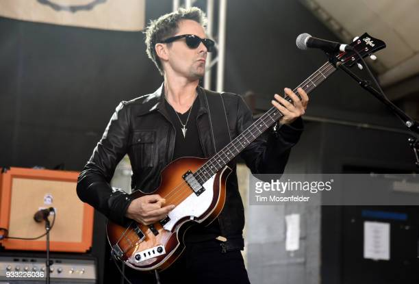 Matthew Bellamy of Dr Pepper's Jaded Hearts Club Band performs during Rachael Ray's Feedback party at Stubb's Bar B Que during the South By Southwest...
