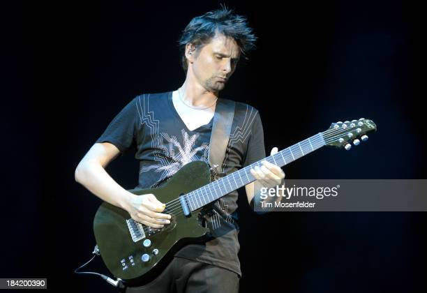 Matthew Bellamy of Muse performs as part of the Austin City Limits Music Festival Day One at Zilker Park on October 11 2013 in Austin Texas