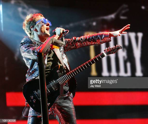 Matthew Bellamy of Muse performs at Austin City Limits Music Festival day two at Zilker Park on October 9, 2010 in Austin, Texas.