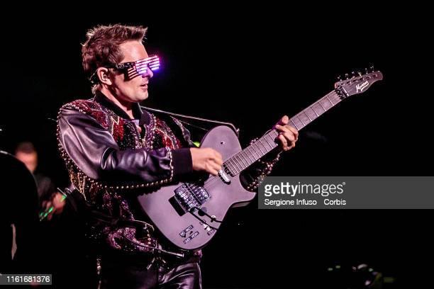 Matthew Bellamy of Muse performs at the San Siro Stadium on July 12, 2019 in Milan, Italy.