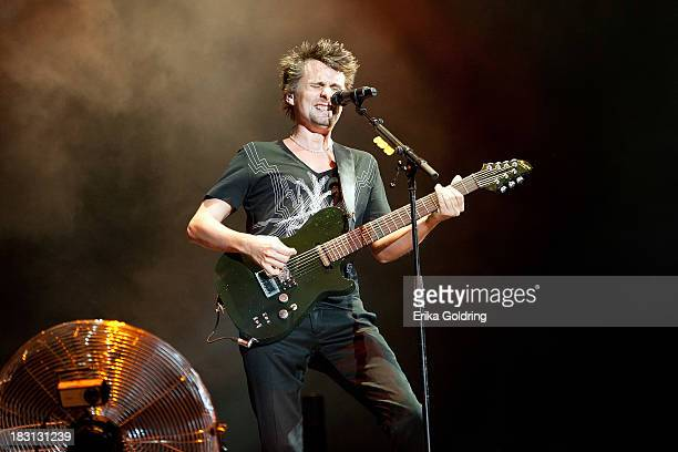 Matthew Bellamy of Muse performs during Day 1 of Austin City Limits Festival at Zilker Park on October 4, 2013 in Austin, Texas.