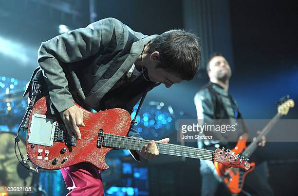 Matthew Bellamy of Muse performs during the KROQ Almost Acoustic Christmas at Gibson Amphitheatre on December 13, 2009 in Universal City, California.