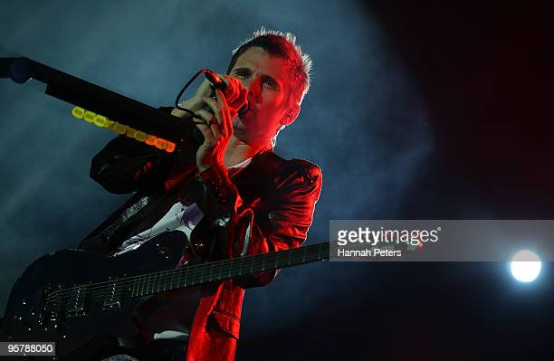 Matthew Bellamy of Muse performs on stage during the 2010 Big Day Out Auckland at Mt Smart Stadium on January 15, 2010 in Auckland, New Zealand.