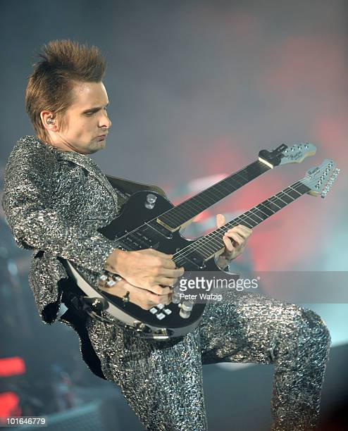 Matthew Bellamy of Muse performs on stage during the third day of Rock am Ring on June 05 2010 in Nuerburg Germany