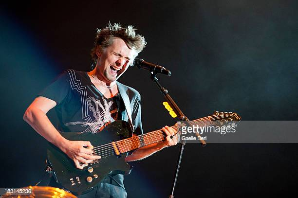 Matthew Bellamy of Muse performs on stage on Day 1 of Austin City Limits Festival at Zilker Park on October 4, 2013 in Austin, Texas.