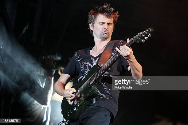 Matthew Bellamy of Muse performs onstage during Day 1 of the 2013 Austin City Limits Music Festival at Zilker Park on October 4, 2013 in Austin,...