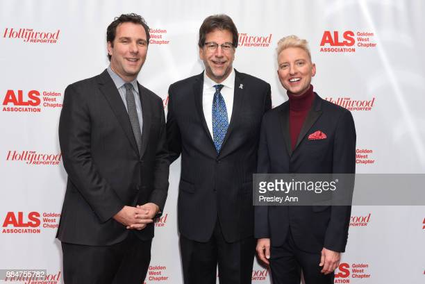 Matthew Belloni Fred Fisher and Chris Gardner attend ALS Golden West Chapter Hosts Champions For Care And A Cure at The Fairmont Miramar Hotel...