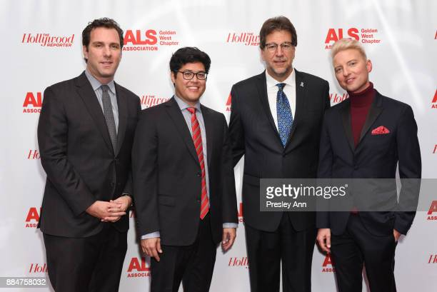 Matthew Belloni Justin Ichida Fred Fisher and Chris Gardner attend ALS Golden West Chapter Hosts Champions For Care And A Cure at The Fairmont...