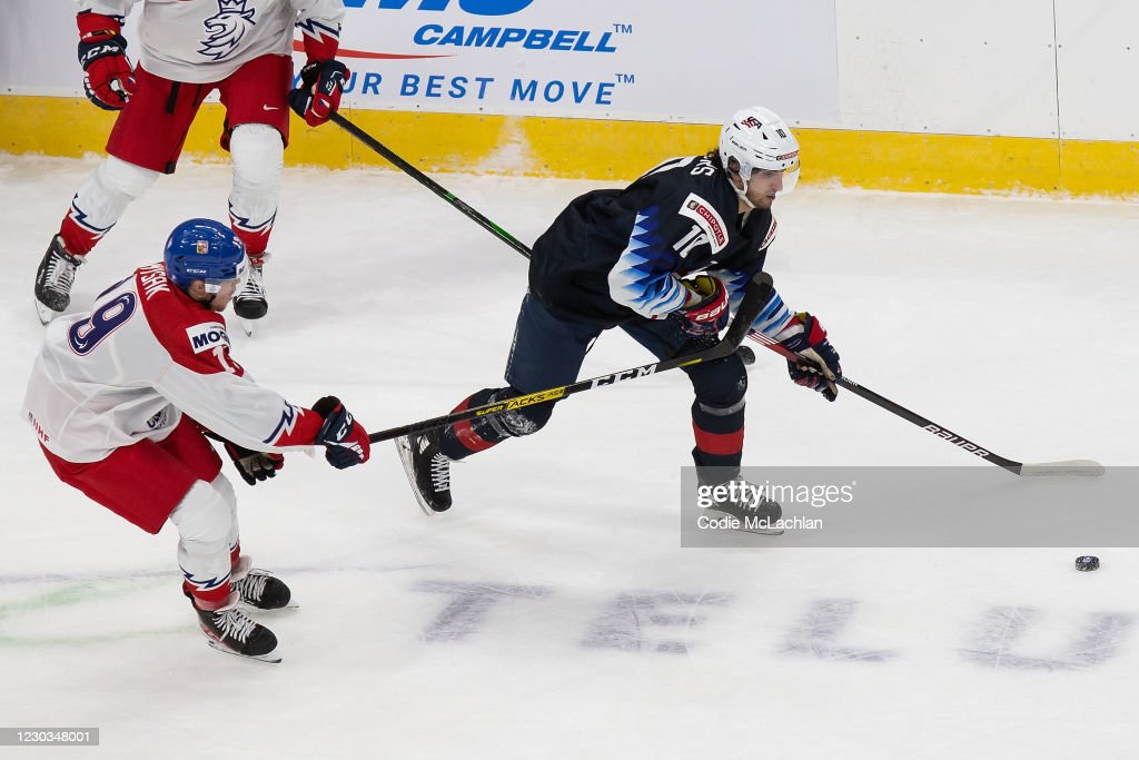 United States v Czech Republic: Preliminary Round Group B - 2021 IIHF World Junior Championship : News Photo