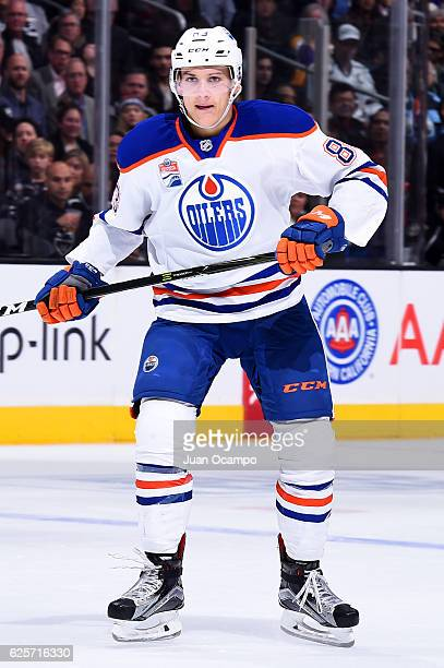 Matthew Benning of the Edmonton Oilers skates during the game against the Los Angeles Kings on November 17 2016 at Staples Center in Los Angeles...