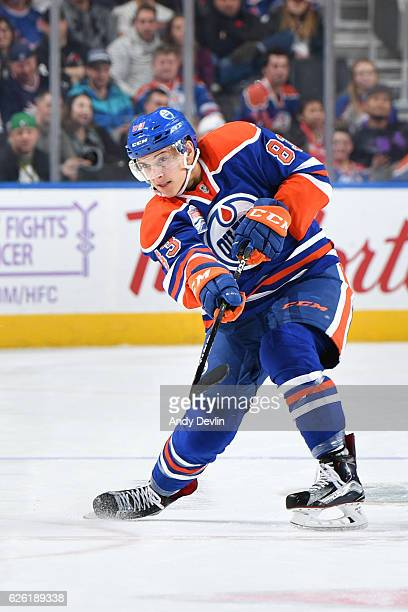 Matthew Benning of the Edmonton Oilers skates during the game against the New York Rangers on November 13 2016 at Rogers Place in Edmonton Alberta...
