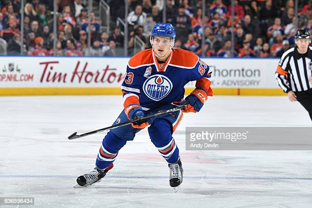 Matthew Benning of the Edmonton Oilers skates during the game against the Columbus Blue Jackets on December 13 2016 at Rogers Place in Edmonton...
