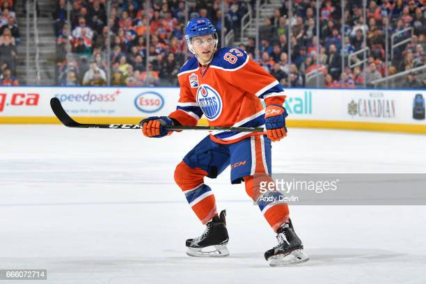 Matthew Benning of the Edmonton Oilers skates during the game against the Vancouver Canucks on March 18 2017 at Rogers Place in Edmonton Alberta...