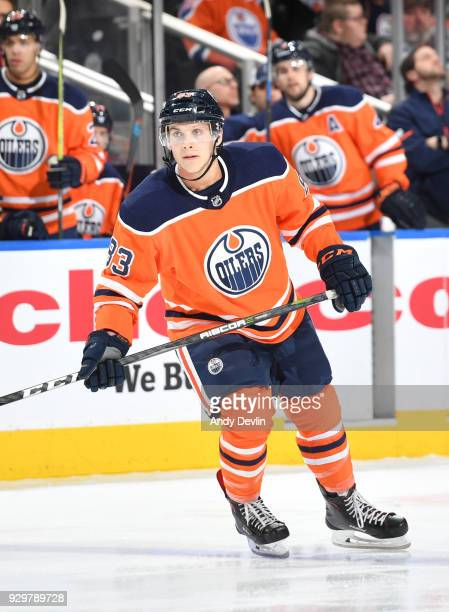 Matthew Benning of the Edmonton Oilers skates during the game against the Tampa Bay Lightning on February 5 2018 at Rogers Place in Edmonton Alberta...