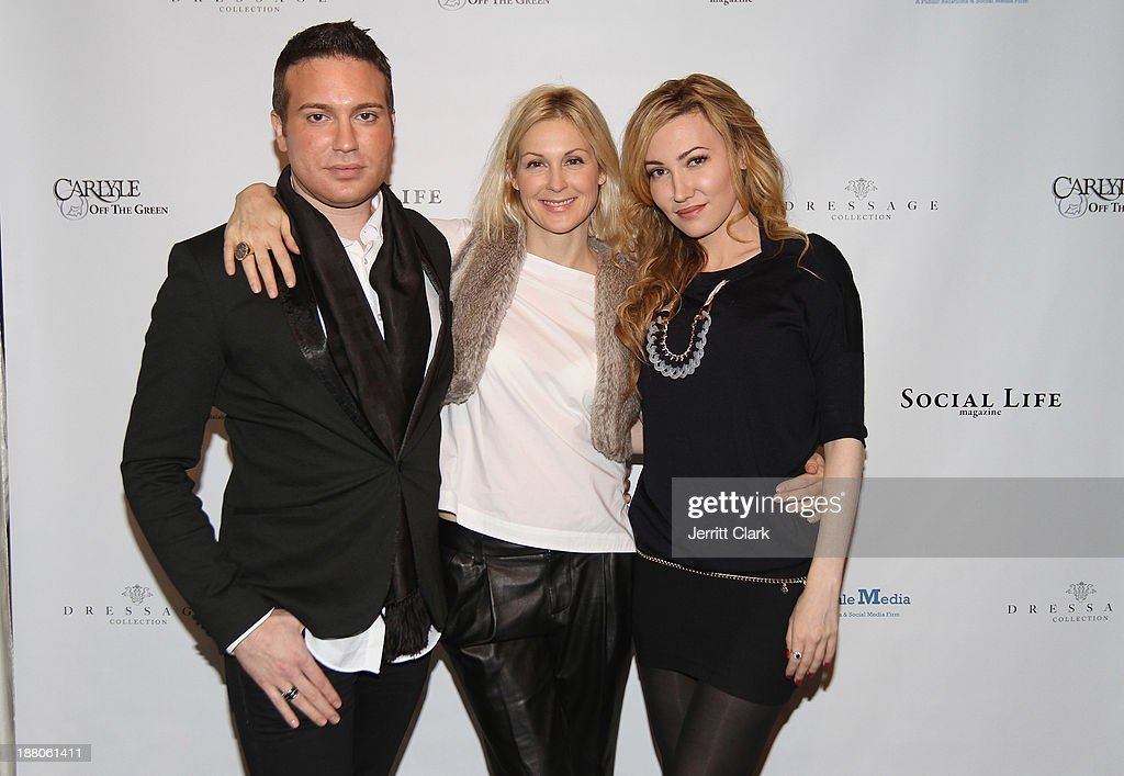 Matthew Berritt, Kelly Rutherford and Devorah Rose attend the Social Life Magazine Luxe Manhattan Event on November 13, 2013 in New York City.