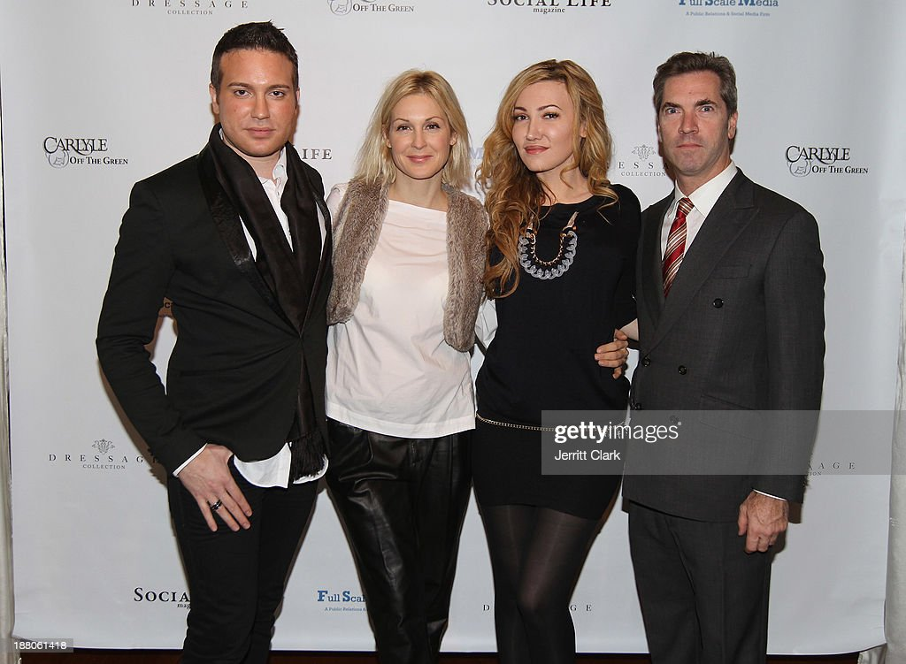 Matthew Berritt, Kelly Rutherford, Devorah Rose, Justin Mitchell attend the Social Life Magazine Luxe Manhattan Event on November 13, 2013 in New York City.