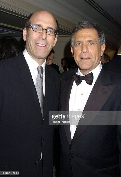 Matthew Blank and Leslie Moonves during Museum of the Moving Image Honors Jeffrey Bewkes and Leslie Moonves at The St Regis Hotel in New York City...