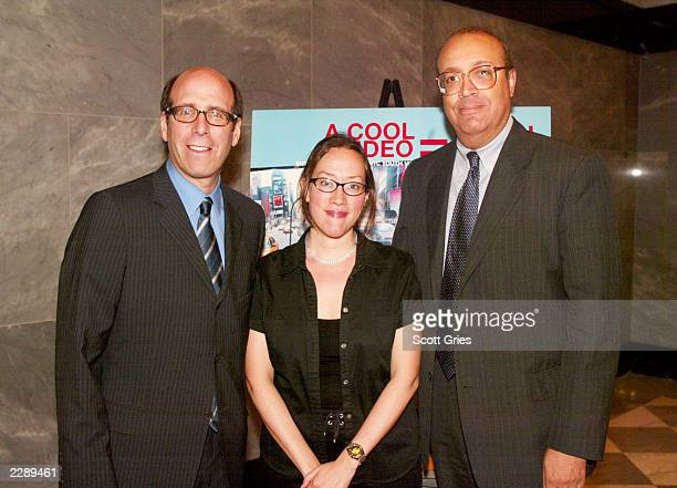 Matthew Blank Chairman and CEO of Showtime Networks and Pencil announce the winners of the Fifth Annual NYC Youth Video Festival on June 3 2002 at...