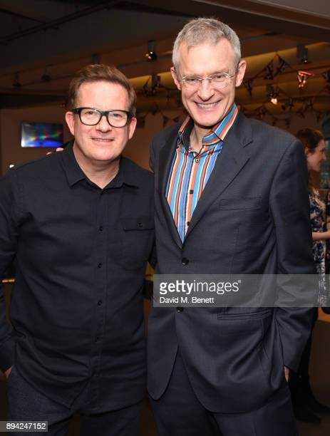 Matthew Bourne and Jeremy Vine attend the matinee Gala Performance of 'Matthew Bourne's Cinderella' at Sadler's Wells Theatre on December 17 2017 in...