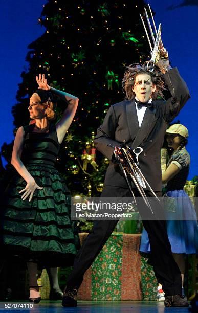 Matthew Bourne Company performing Edward Scissorhands at Sadlers Wells Theatre London UK Christmas Ball: Edward Scissorheads Dominic North plus the...