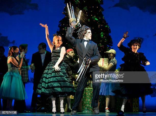 Matthew Bourne Company performing Edward Scissorhands at Sadlers Wells Theatre London UK Christmas Ball: Edward Scissorheads Dominic North & Kim...