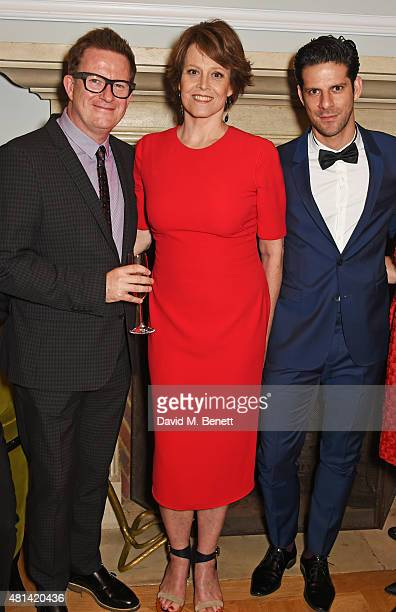Matthew Bourne Sigourney Weaver and Marcelo Gomes attend a celebration of Brazilian ballet dancer Marcelo Gomes hosted by Sigourney Weaver Ali...