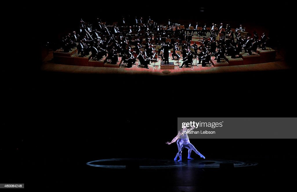 Matthew Bourne's Swan Lake perform onstage during The Music Center's
