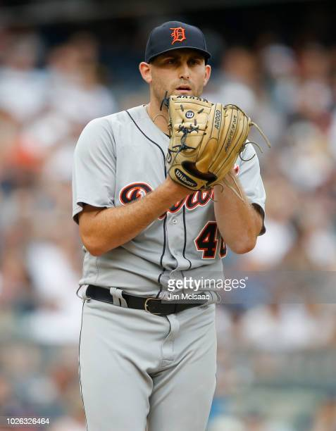 Matthew Boyd of the Detroit Tigers in action against the New York Yankees at Yankee Stadium on September 2 2018 in the Bronx borough of New York City...