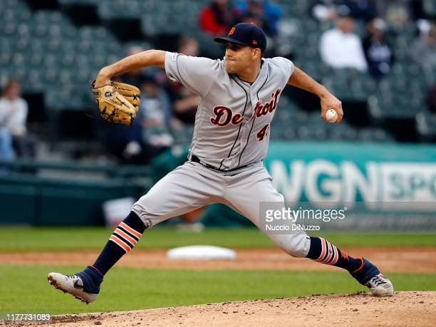 Matthew Boyd of the Detroit Tigers pitches in the third inning during the game against the Chicago White Sox at Guaranteed Rate Field on September...
