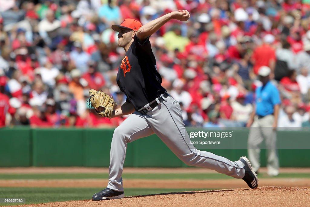 MLB: MAR 22 Spring Training - Tigers at Phillies : News Photo