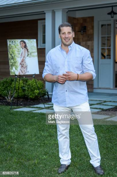 Matthew Breitenbach attends Hamptons Magazine Celebration with Cover Star Katie Lee on July 21 2017 in Sag Harbor New York