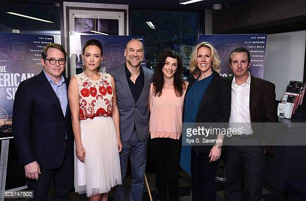 Matthew Broderick Alicja Bachleda Greg Stuhr Kelsey Seipser Jenna Ricker and Grant Shaud attend The American Side New York Screening at IFC Center on...