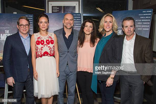 Matthew Broderick Alicja Bachleda Writer/Actor Greg Stuhr Kelsey Seipser Director Jenna Ricker and Grant Shaud attend the The American Side New York...
