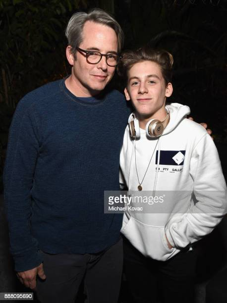 Matthew Broderick and James Wilkie Broderick attend the 2017 GQ Men of the Year Party at Chateau Marmont on December 7 2017 in Los Angeles California