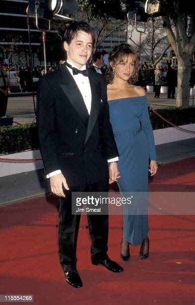 Matthew Broderick and Jennifer Grey during 59th Annual Academy Awards at Shrine Auditorium in Los Angeles, California, United States.