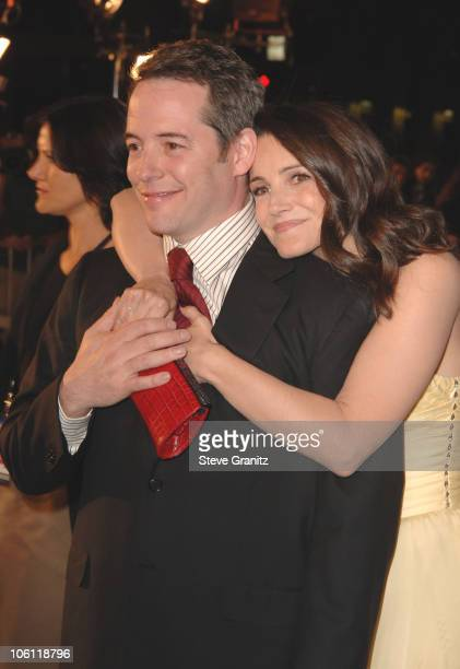Matthew Broderick and Kristin Davis during 'Deck the Halls' Premiere Arrivals at Chinese Theater in Hollywood California United States