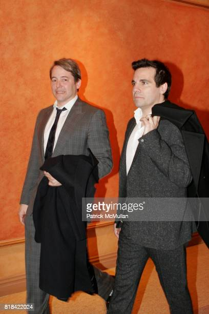 Matthew Broderick and Mario Cantone attend Opening Night of Present Laughter at American Airlines Theater on January 21 2010 in New York City