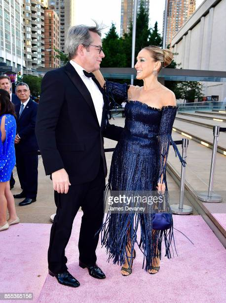 Matthew Broderick and Sarah Jessica Parker arrive to the New York City Ballet's 2017 Fall Fashion Gala at David H Koch Theater at Lincoln Center on...