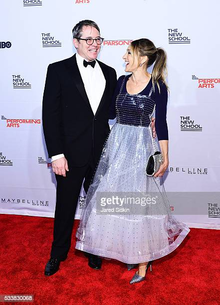 Matthew Broderick and Sarah Jessica Parker attend the 68th Annual Parsons Benefit and Fashion Show at Pier Sixty at Chelsea Piers on May 23, 2016 in...
