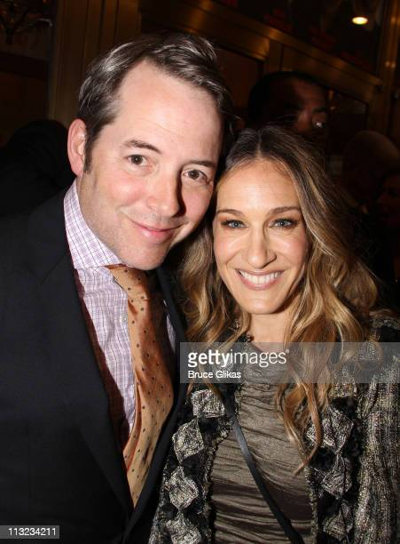 Matthew Broderick and Sarah Jessica Parker attend the Broadway opening night of 'The Normal Heart' at The Golden Theatre on April 27 2011 in New York...