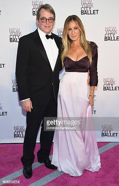 Matthew Broderick and Sarah Jessica Parker attend the New York City Ballet 2016 Fall Gala at David H. Koch Theater at Lincoln Center on September 20,...